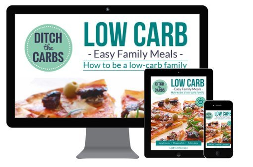 Low-carb family meals ebook mockup