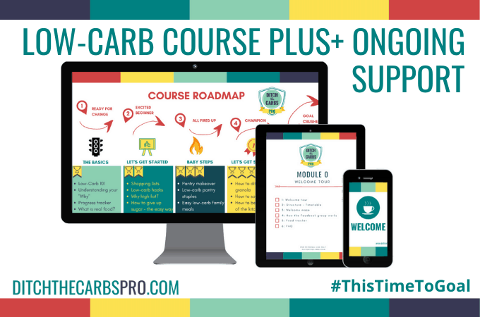 low-carb course and membership